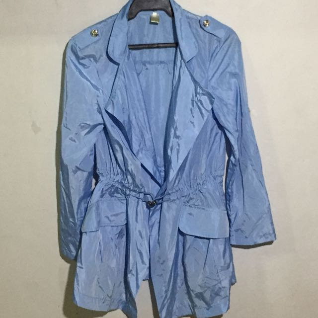 Light Blue Parka Jacket