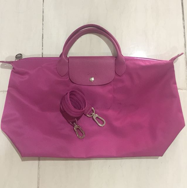 Long Champ Neo Magenta Large