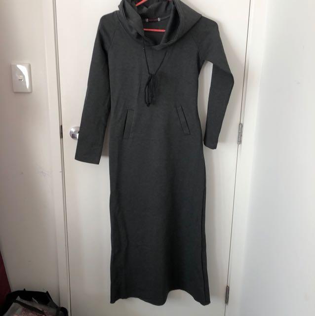 Long hoddie style dress