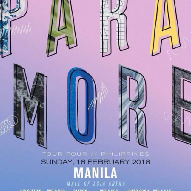 Looking for: Paramore tour ticket (Lowerbox A or B)