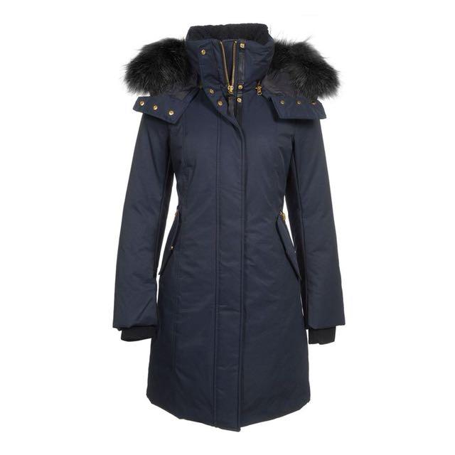 Mackage Kerry down jacket - navy with black fur