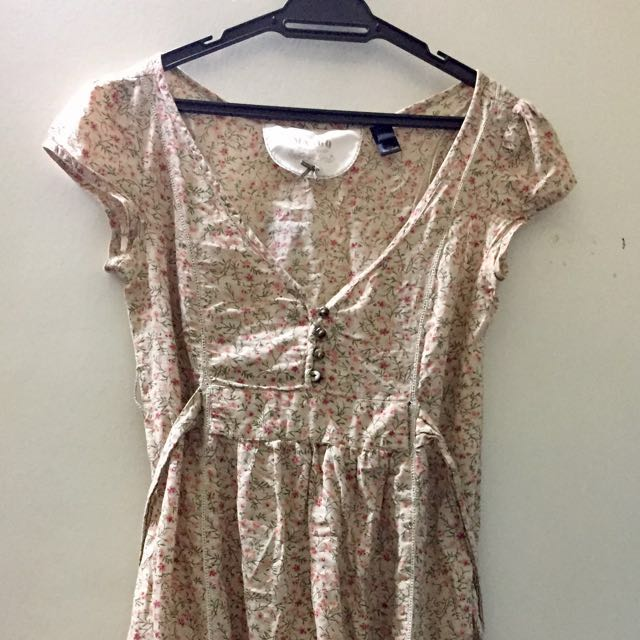 Mango 50's paisley dress