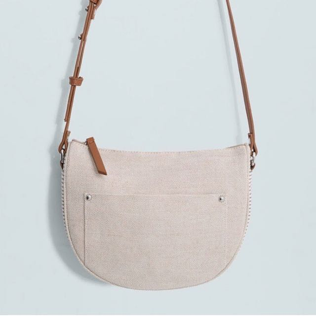 MANGO Touch sling bag canvas
