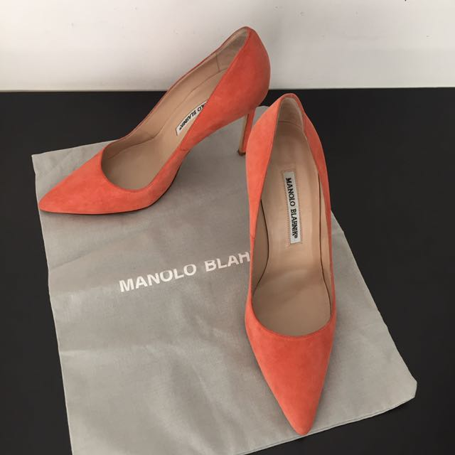 Manolo Blahnik BB Suede Point Toe Authentic