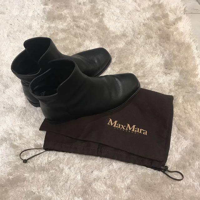 Max Mara Leather Boot - Size 7
