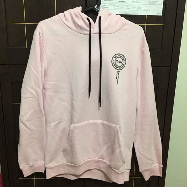 03f75675cf88 Men s Bershka Pink Hoodie Size Medium, Men s Fashion, Clothes on Carousell