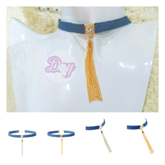 """[MerryCharms.com/Day 21] DY2109 """"Bluez"""" Choker"""