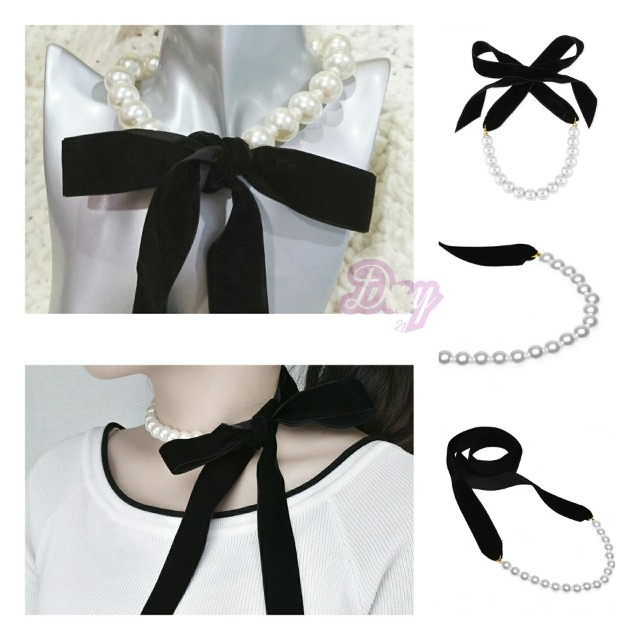 """[MerryCharms.com/Day 21] """"Pretty Bow"""" Adjustable Tied Choker"""