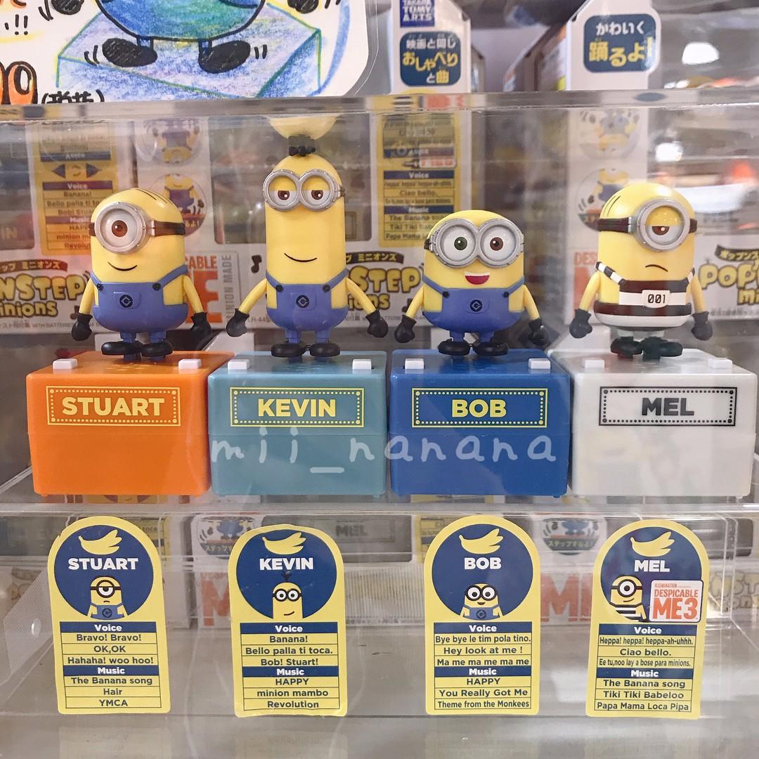 Takara Tomy Pop/'n step Talking Dancing Toy Figure Minions Kevin Japan