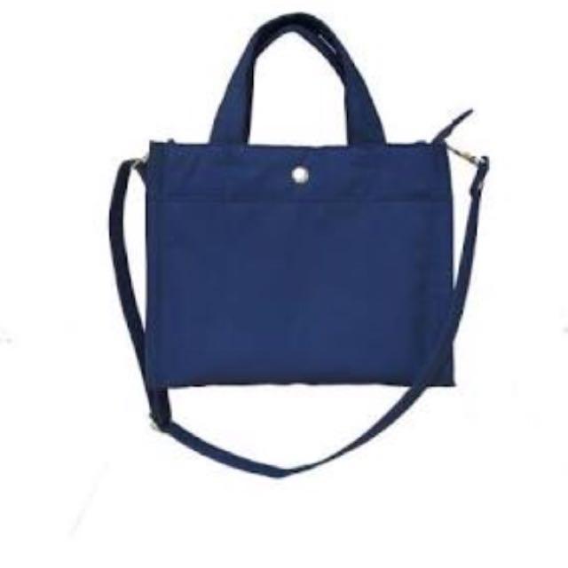 Mooze navy canvas bag