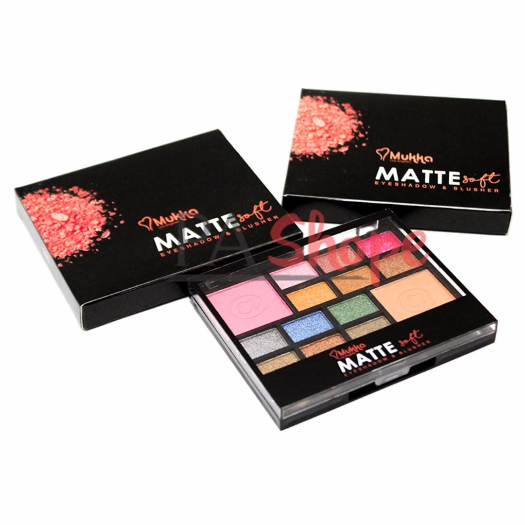 Mukka Eyeshadow 35 Collors Blusher 2 Item Cek Harga Eye Shadow 7016 Matte Soft 903 02 Kesehatan Kecantikan