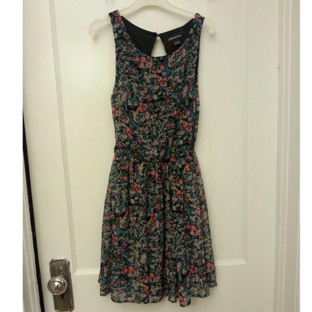 Multi-colour Floral Open-back dress