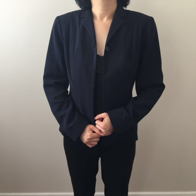 Navy blue blazers (2 styles included)