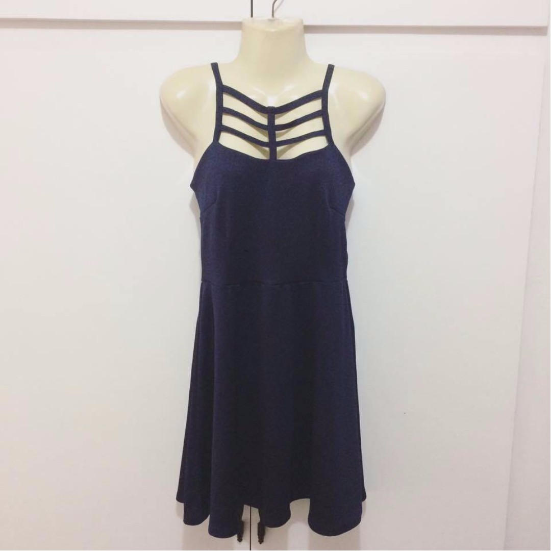 Navy Blue Skater Dress