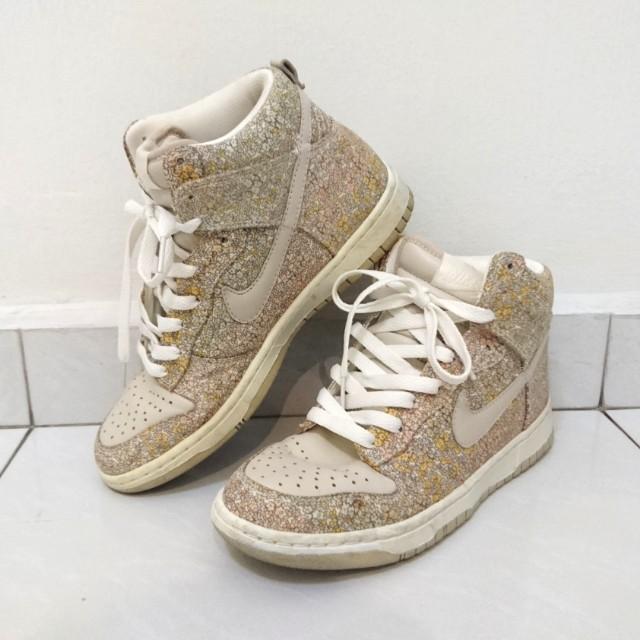 NIKE  Nike Dunk High Skinny Sable Flower Texture Women Shoes ... c6141c860e7a