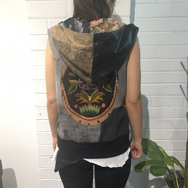 One off Leather vest - Size S