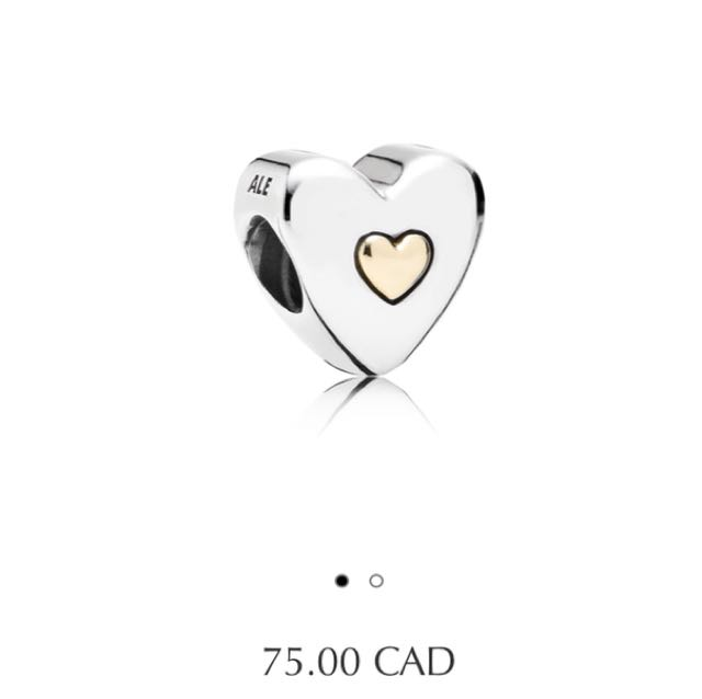 Pandora happy Anniversary heart with 14k gold