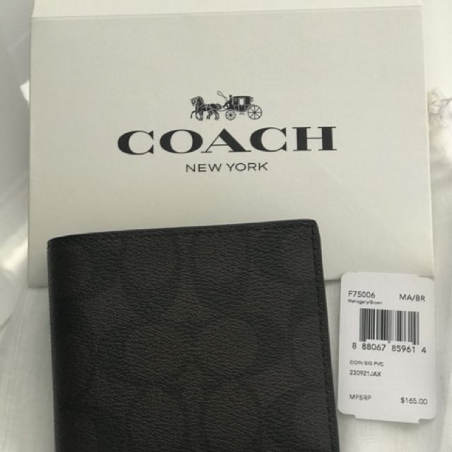 Perfect X'mas gift. Coach wallet.