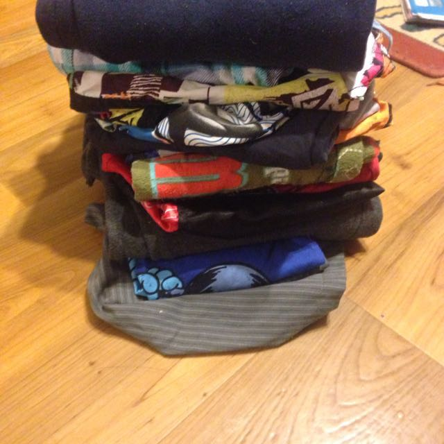 Pile Of Young Boys Clothes