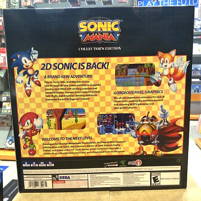 PS4 SONIC MANIA COLLECTOR'S EDITION, Toys & Games, Video