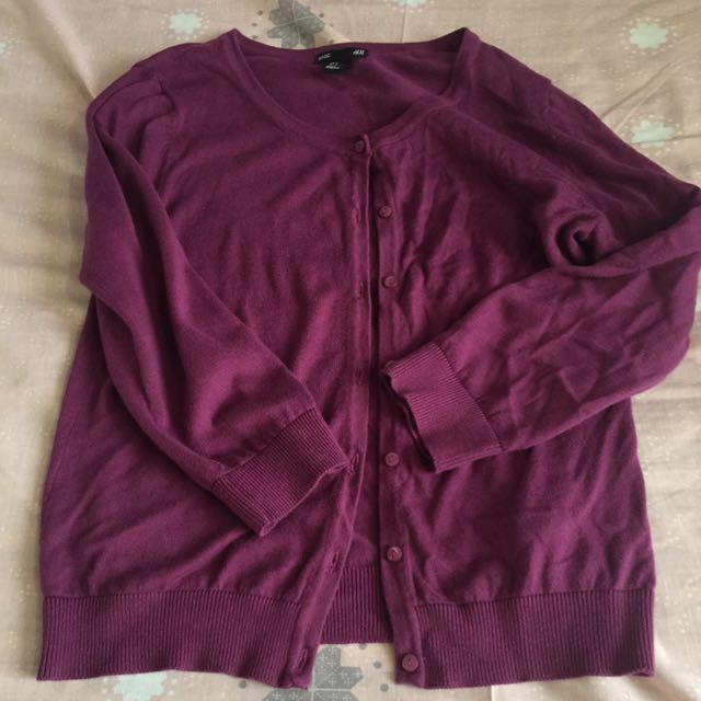 Purple H&M cardigan