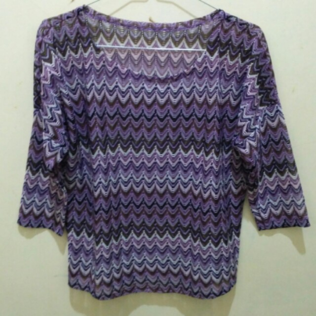 Purple tribal top