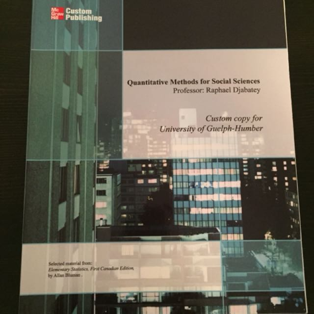 Quantitative methods for social sciences.