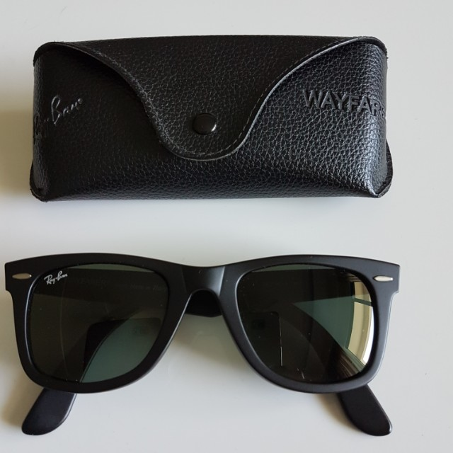 2621a20d0a ... clearance rayban wayfarer asian fit luxury accessories on carousell  815ae 36a18