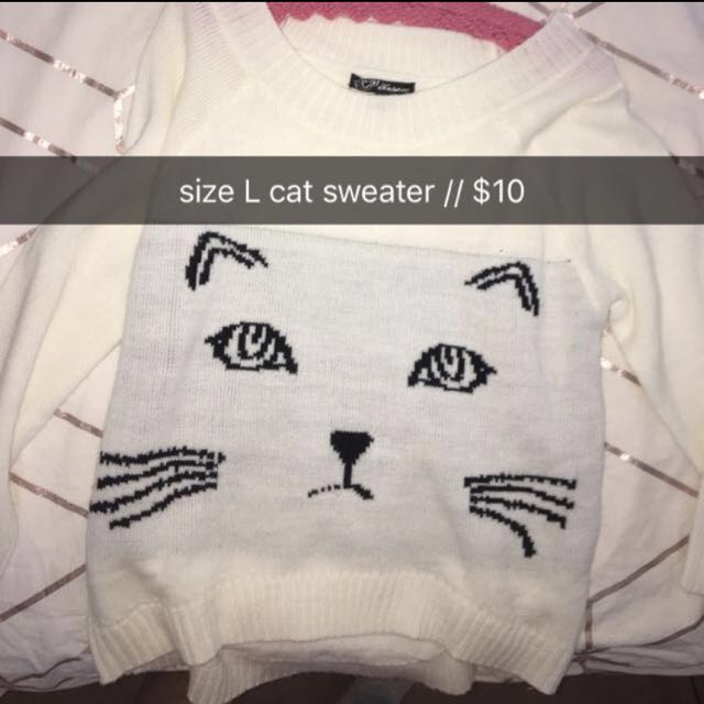 REDUCED Baggy Cat Sweater