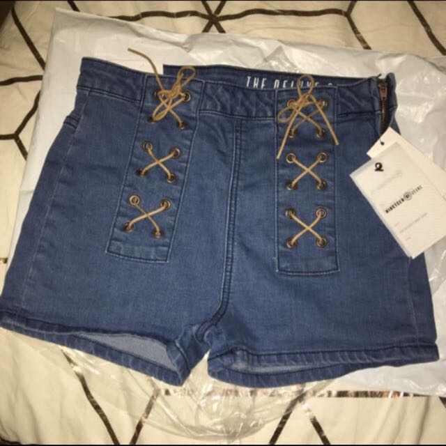 REDUCED Highwaisted Deluxe Shorts Cotton On