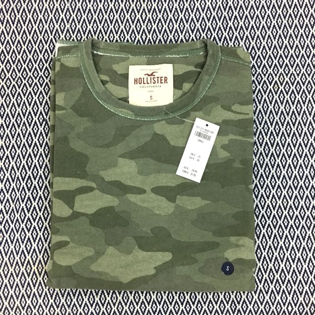 (S) Authentic Hollister Camo Crew Sweatshirt