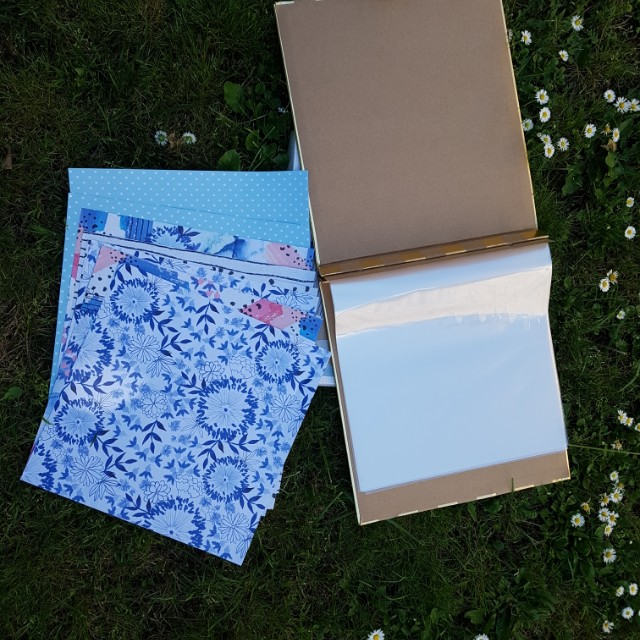 Scrapbook with paper