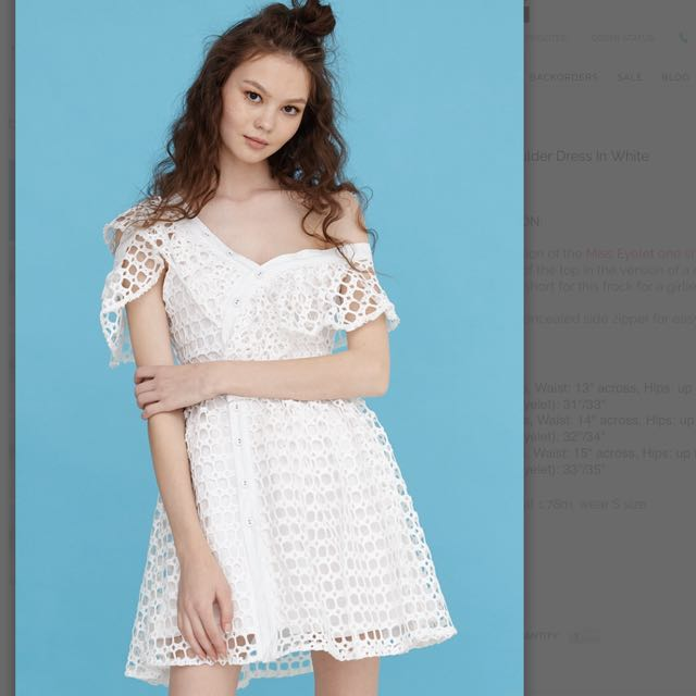 Self Portrait Inspired White Off Shoulder Dress Women S Fashion Clothes Dresses Skirts On Carou