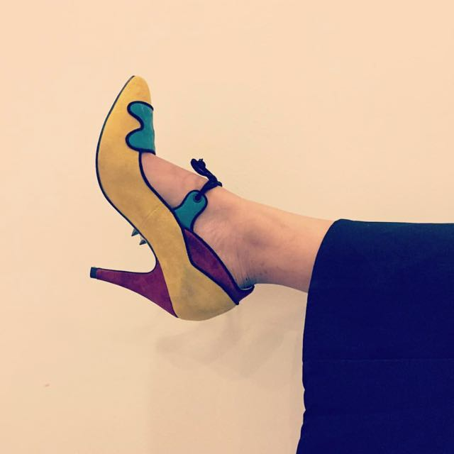 ShoesShoesShoes Luxe Multicoloured Suede Heels
