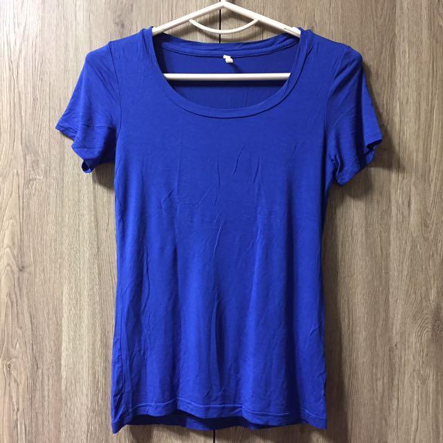 STARMIMI藍貼身T恤上衣
