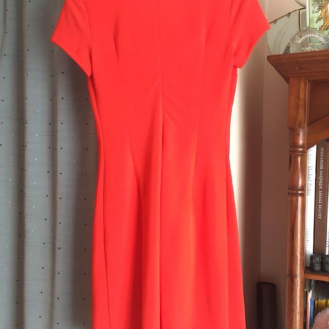Stunning Agnes & Paul dress! Size 8 fiery orange.