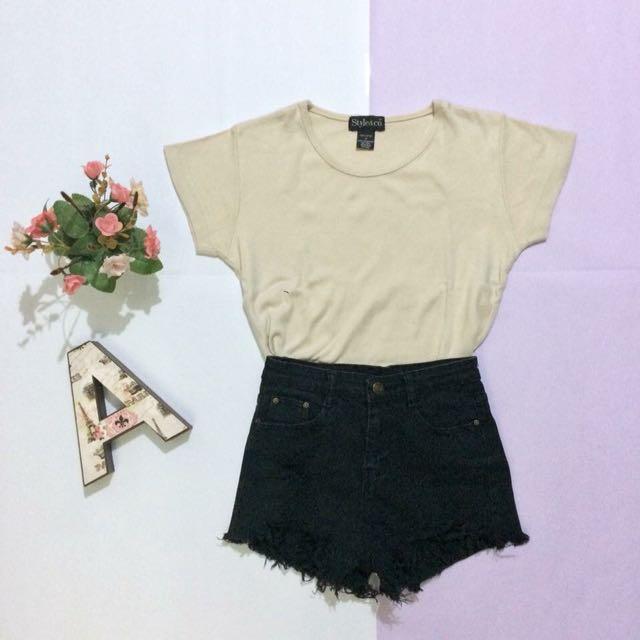 Style & Co. Beige Korean Tee
