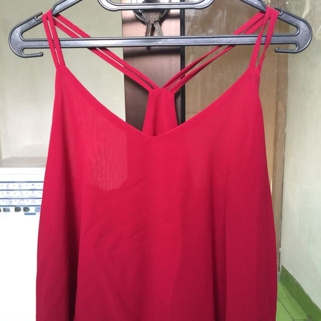 Tanktop truffle detail chat liat pict size fit to M
