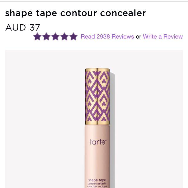 Tarte tape shape concealer fair beige