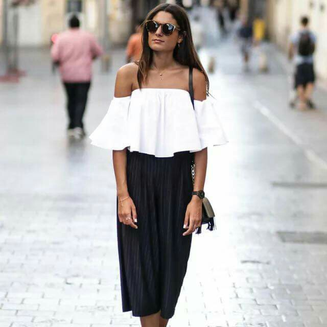 Terno ( white top + pants)
