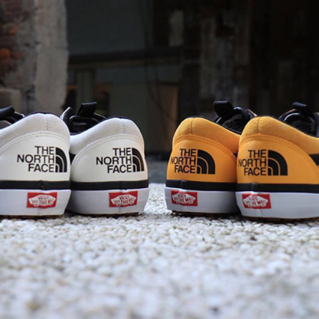 vans north face yellow