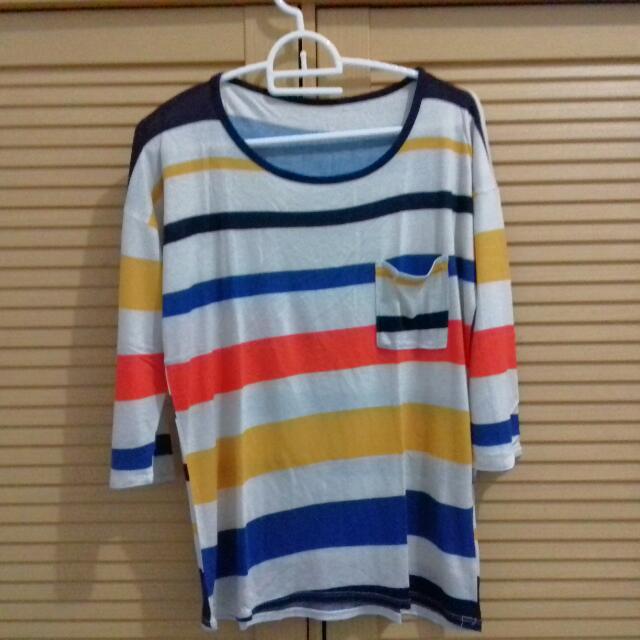 #tisgratis Rainbow Stripes Shirt