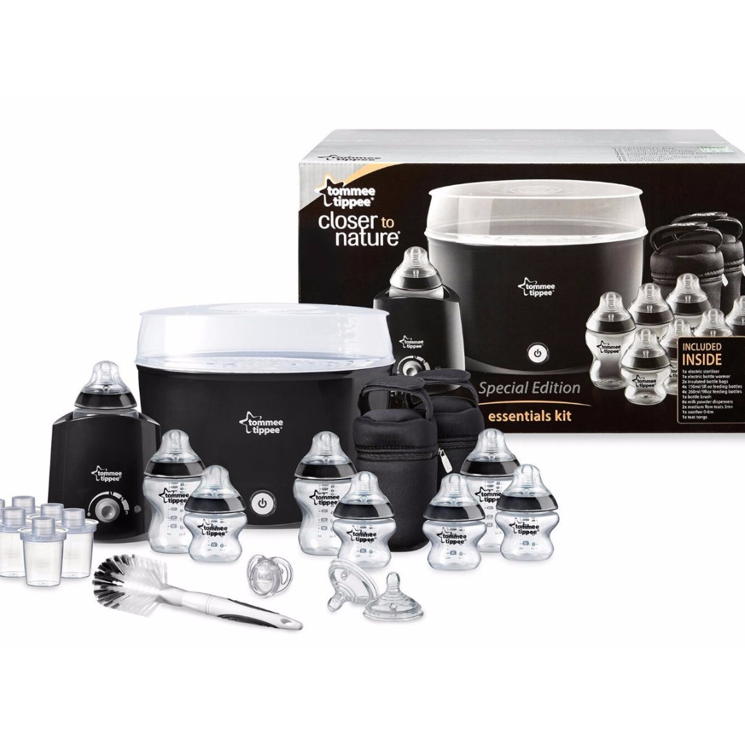 Tommee Tippee Closer to Nature Electric Steriliser With Soother /& TeatTong¦Black