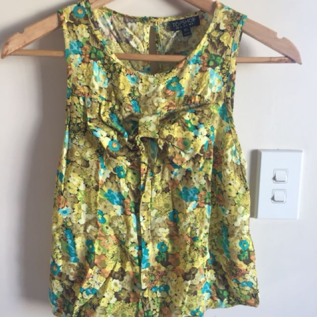 Top Shop yellow floral top