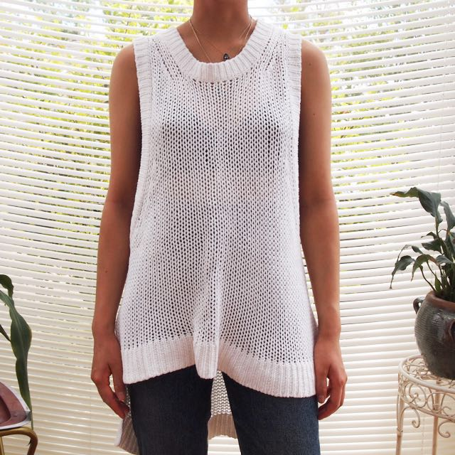 Topshop Knit Sweater Singlet Top