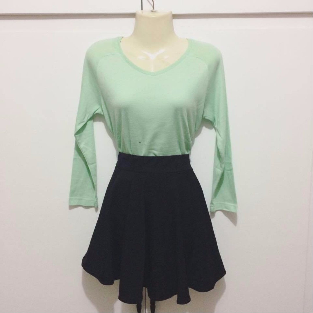 Topshop Mint Green Long Sleeves