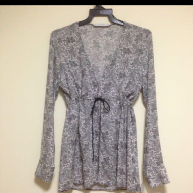TRF ZARA blouse batik panjang