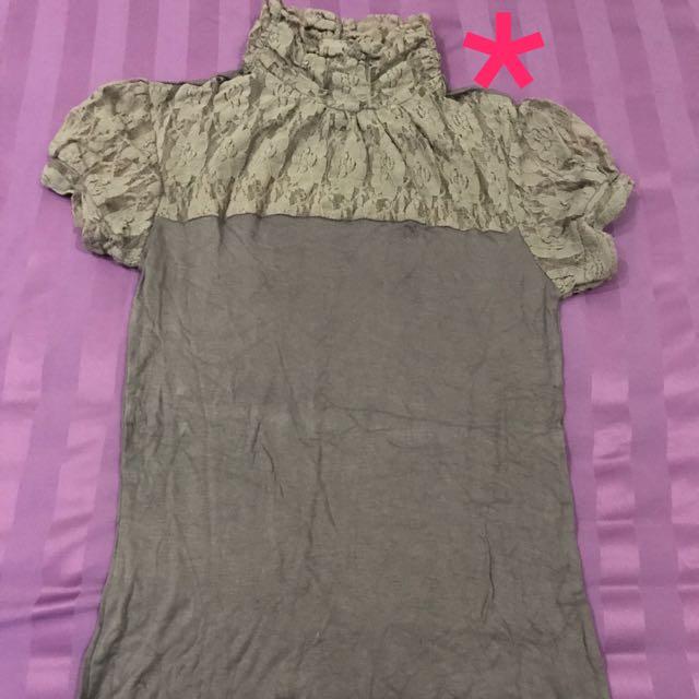 Turtle neck blouse