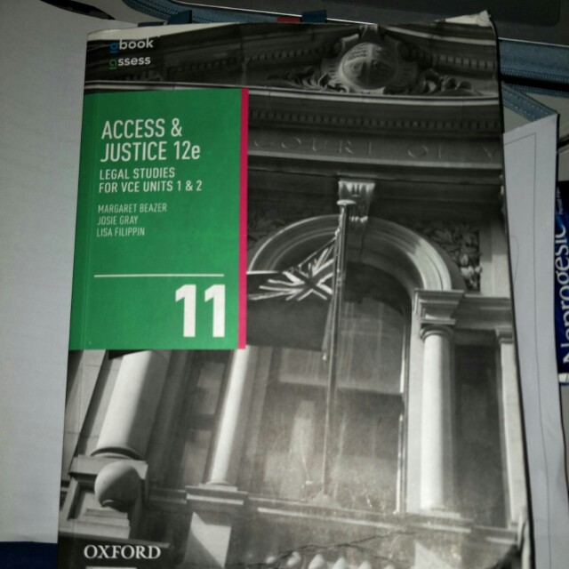 Units 1&2 Legal studies textbook