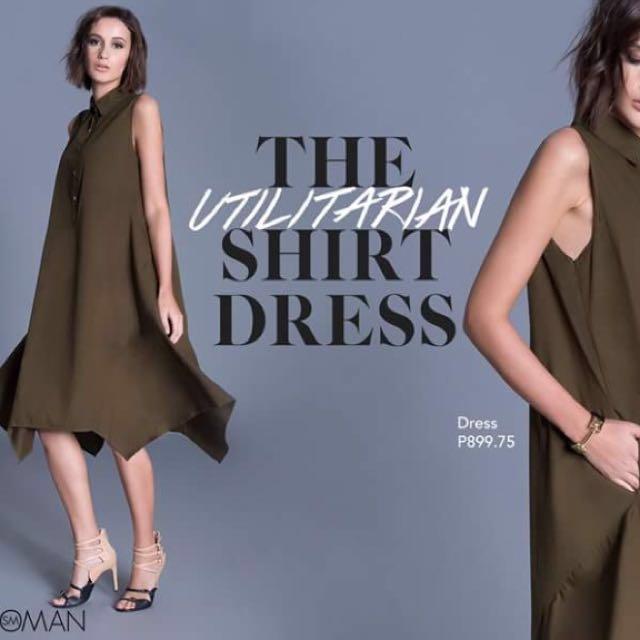 Utilitarian Shirt Dress